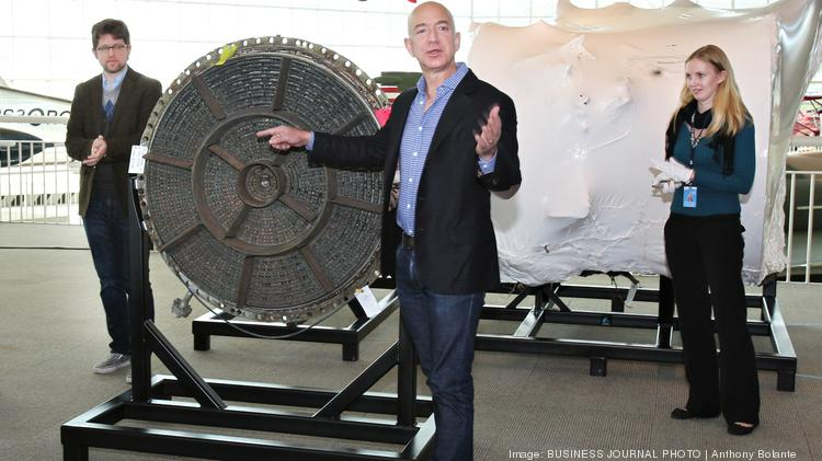 Bezos shows off recovered Apollo engines as NASA donates