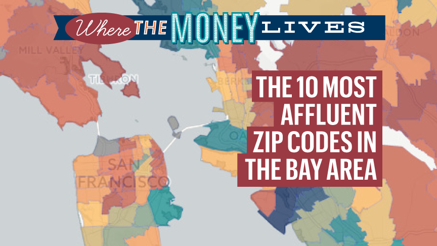 The Most 10 Affluent Zip Codes In The San Francisco Bay Area San Francisco Business Times San francisco bay area maps. the most 10 affluent zip codes in the