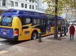 Metro Transit rolls out first electric, battery-powered bus
