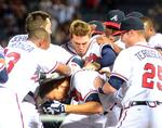 Braves' Simmons hits rare walk-off triple in win (SLIDESHOW)