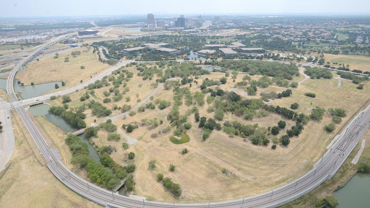 The area surrounding the Verizon campus will include plans for a new mixed-use development in Irving, called Hidden Ridge.