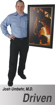 """Painting entitled 'First Heat' by Bryan Larsen. My wife gave it to me a year after opening Atlas MD. It depicts Hank Rearden from the book Atlas Shrugged during the first pour of Rearden Metal, an alloy stronger than steel. It is symbolic of my opening of Atlas MD."" - Josh Umbehr, M.D., CEO/Family Physician, Atlas MD Concierge Family Practice"