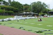 Some of the contractors working on the new Punahou School Alexander Field include Ron's Construction, Applied Surfacing Technology and Pacific Recreation.