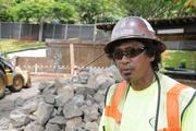 Jeff Pedrina, foreman for Ron's Construction, says they hope to have the new turf at Punahou School's Alexander Ffield finished by the end of August.