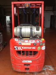Full Pint forklift, a key piece of a machinery for brewery startups, in which owners are plenty used to manually rolling around kegs.
