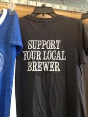 Merchandise championing local craft beer.