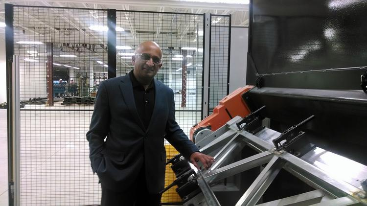 Satyen Patel, Prescient's CEO and chairman, at the company's 120,000-square-foot manufacturing center in Arvada.