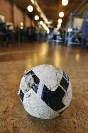 A chewed up ball waits for it's nextdog at Effective UI.
