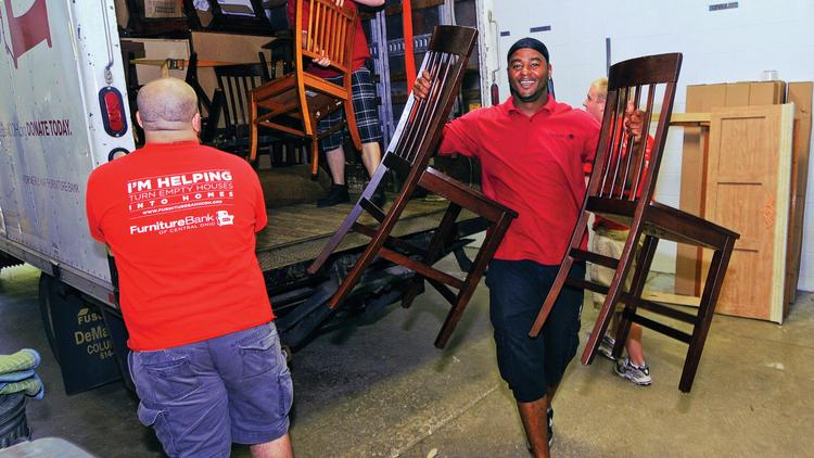 the furniture bank of central ohio will reinvest profits from its new thrift store back into