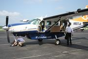 CEO Stan Little getting off of a Southern Airways Express plane