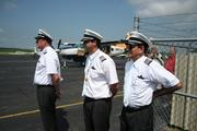 Three of Southern Airways Express pilots, Bruce Jacobs, Scott Honnoll and Larry Woronoff