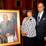 Portrait of Henry Frye, first black chief justice, now displayed in N.C. Supreme Court