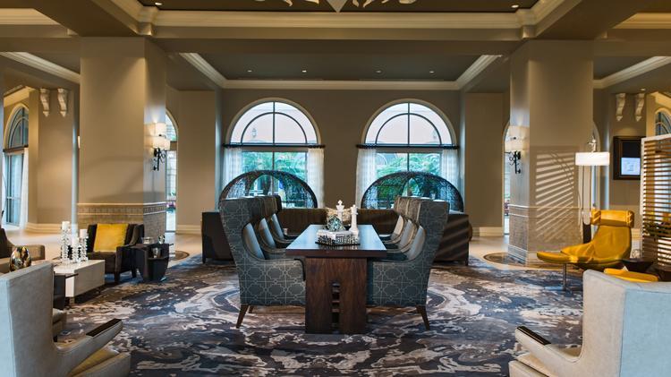 The Newly Designed Lobby Of The Renaissance Tampa International Plaza Hotel