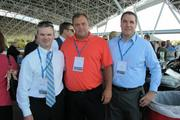 Bob Bell, of First Business Bank (left), with Rick Frieseke  of Friess Environmental Consulting Inc. and Tim Nelson of Irgens