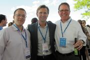 Adam Matson of NAI MLG Commercial (left), with fellow industrial broker Trent Poole of CBRE Group in Milwaukee, and Gregg Thompson, who in May became president of Briohn Building Corp.
