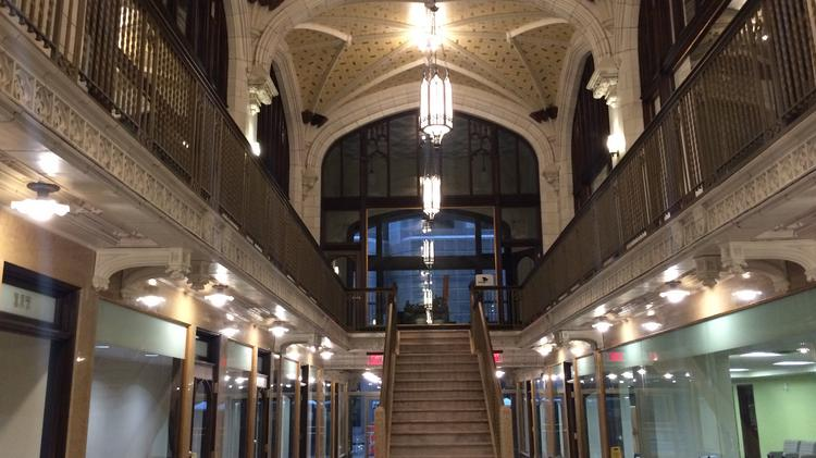 A Look Inside The Nearly Finished Arcade Building In Downtown St