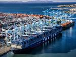 Largest ship ever in the U.S. calls on the West Coast