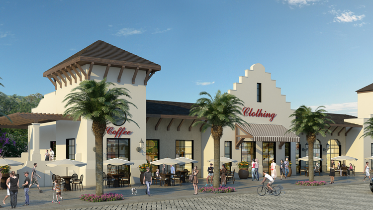 A 96-acre site in Maitland is being set up for upscale homes, specialty shops, eateries and more.