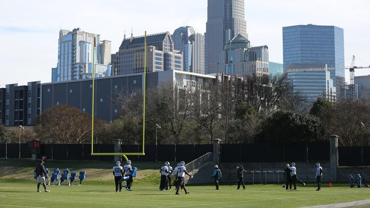 BUZZ  Work begins on Panthers practice field - Charlotte Business ... b44880076