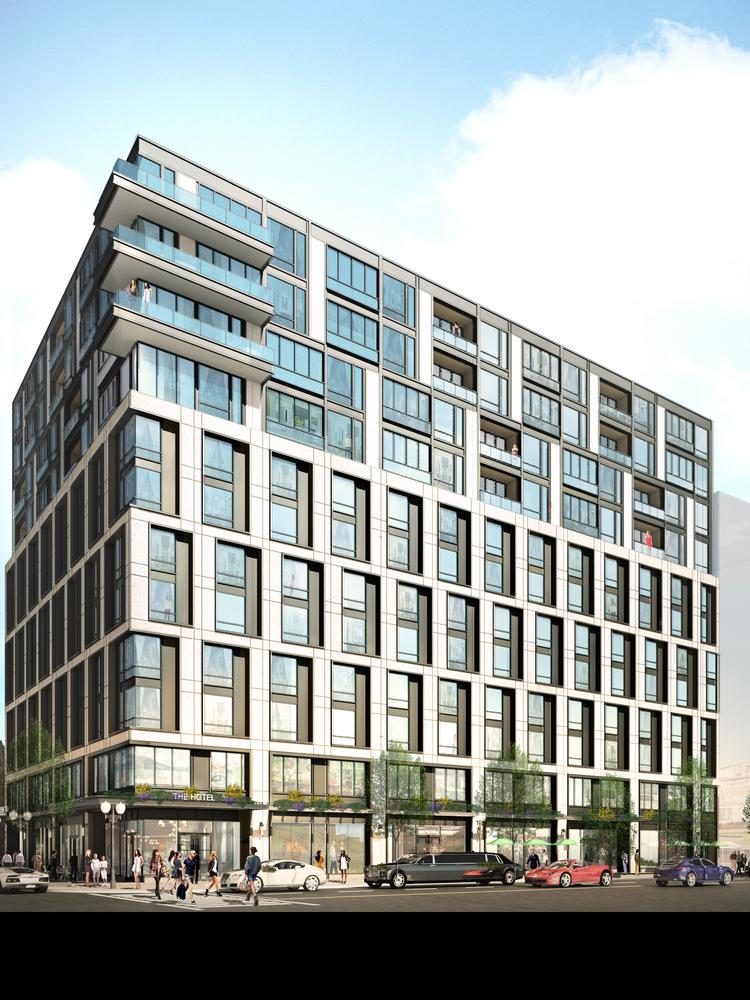 The SLS Lux hotel and condominium project will open at Fifth and Eye streets NW in Northwest D.C.'s Mount Vernon Triangle neighborhood.