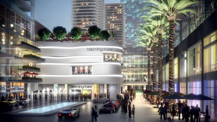Miami Worldcenter was to be anchored by Macy's and Bloomingdale's, but has changed its strategy. It will now have open-air retail based on a pedestrian-friendly street grid.