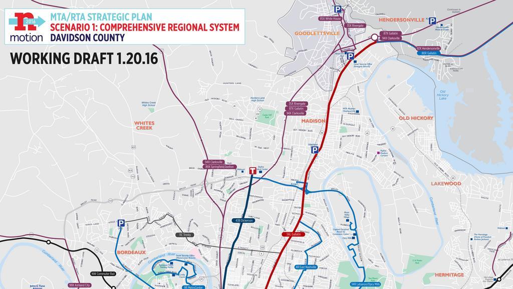 Light Rail Superfast Buses Nashville Transit Officials Long - Atlanta to nashville rail on map of us