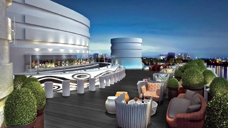 The Hotel S Rooftop Lounge Will Feature Greenery A Mix Of High And Low Seating