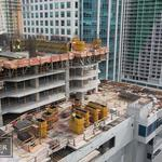 Part of what will be Miami's tallest tower is now open