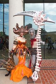Sara Leo and Tyler James had some of the more elaborate costumes at Otakon 2013. The two, who were attending Otakon for a second time, dressed as characters from the video game Dante's Inferno.
