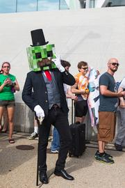 Otakon 2013 attendee Jesse Fog came dressed as Fancy Creeper from Minecraft. It was the Philadelphia resident's first time coming to Otakon — and in a full suit and mask, he said it was hot.