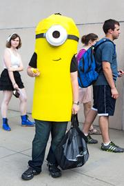 Not all Otakon attendees dress as figures from Asian pop culture. Matt Korotki, a Carroll County resident, came as a minion from the movie Despicable Me.