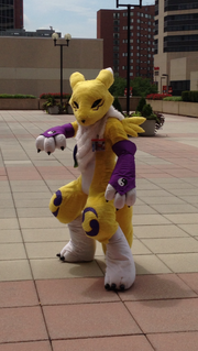 A humid and hot day in Baltimore didn't stop convention-goers from dressing up.