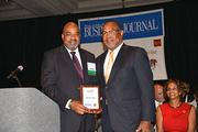 An awards presentation at the 2013 Minority Business Leader Awards presented by the Philadelphia Business Journal.