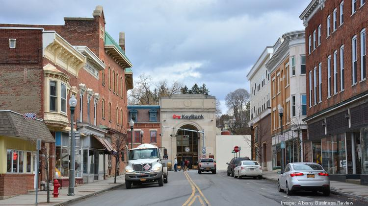 The Tiny Business District In Hoosick Falls New York Has Barber S A