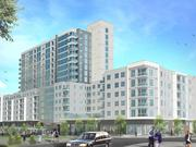 A rendering of the proposed Park Central apartment and retail building expected to open in 2017 at North Hills in Raleigh.