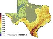 A map from the State Energy Conservation Office shows that the Gulf Coast and South Texas are potential hot spots for geothermal power.