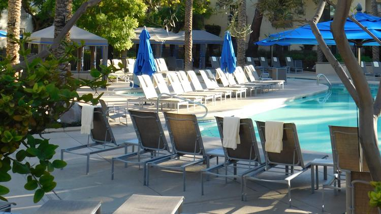 The Hilton Scottsdale Resort & Villas pool, which was renovated in 2016.