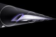 Hyperlooppassengertransportcapsuleconceptualdesignrendering.