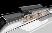 Hyperlooppassengercapsuleversionwithdoorsopenatthestation.
