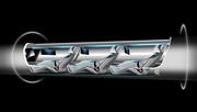 Hyperlooppassengercapsuleversioncutawaywithpassengersonboard.