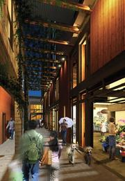 One component of a proposed Capitol Hill project is called the Mews, an open-air connection between 11th Avenue and a mid-block courtyard between Pike and Union streets. Shops and restaurants will front the connection.
