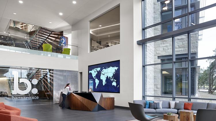 The Main Lobby Of Bazaarvoices Austin Headquarters It Is One Companies That Hires