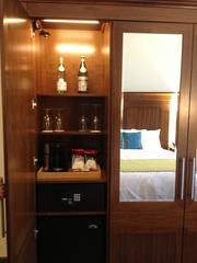 No closet, just furniture in the rooms