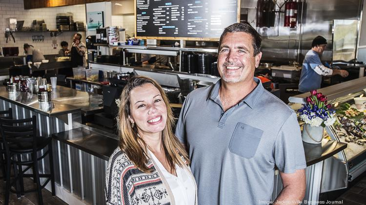 Southern Table Hospitality Owners Ben And Liza Groshell At Their New Venture Safe Harbor Seafood