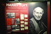 The exhibit at 1stBank Center devoted to Harry Tuft, founder of the Denver Folklore Center.