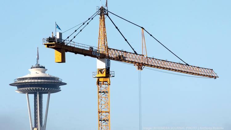 Tower Crane Nashville : Seattle s nation leading crane count is growing again