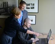 Kristi Paul, Derek DeHaan and Tom Muggli (right) of N'Compass.