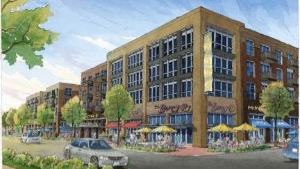 The new mixed-use development will sit on the former Collin County Courthouse site in downtown McKinney upon completion.