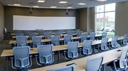 A large training room at the new campus provides ample space to train new and existing employees.