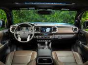 The inside of a Toyota Tacoma
